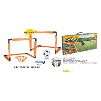 Ao Jie AJ2333SG Набор для игры в футбол (детские складные футбольные ворота (2 шт.) 64*48*48 см.,