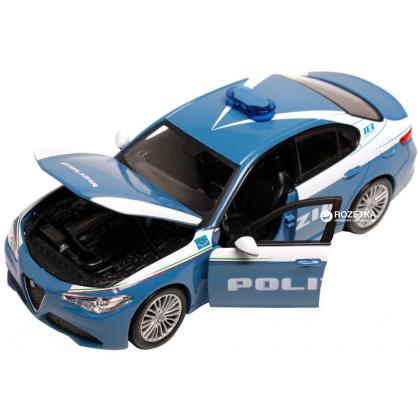 Bburago 18-21085 Модель автомобиля 1:24 Альфа Ромео Джулия Полиция