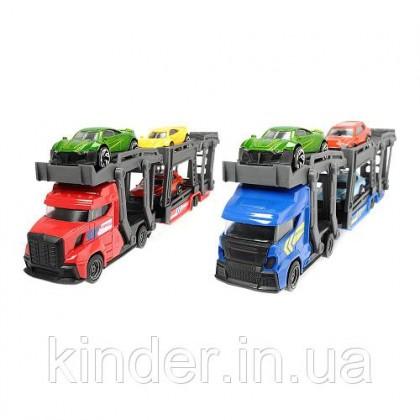 Dickie 20 374-5008 Автовоз 28 см, 2 вида, грузовик и 3 маш 12/24