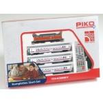 Железные дороги PIKO 57155 Стартовый набор Цифровой пассажирский поезд с 3 вагонами