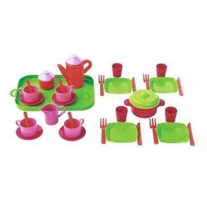 Набор для девочек Ecoiffier 976 Набор посуды