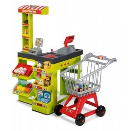 Smoby 024189 Интерактивный супермаркет с тележкой для продуктов