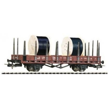 Аксессуары к железной дороге PIKO 54833 Вагон платформа с катушками кабеля DR IV