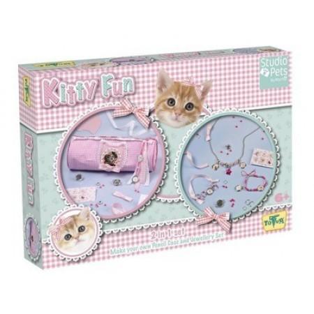 Totum 471016 STUDIO PETS 2 в 1 Пенал и украшения Kitty Fun