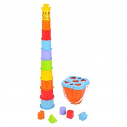 PlayGo 2388 Пирамидка ведерко Жираф