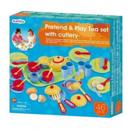 Набор для девочек PLAYGO 3126 Набор посуды с подносом