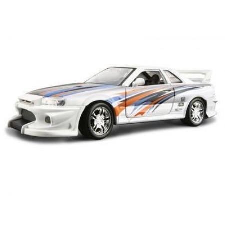 Металлическая модель BBurago 18 23004 Street Tuners Nissan Skyline R34 GTR