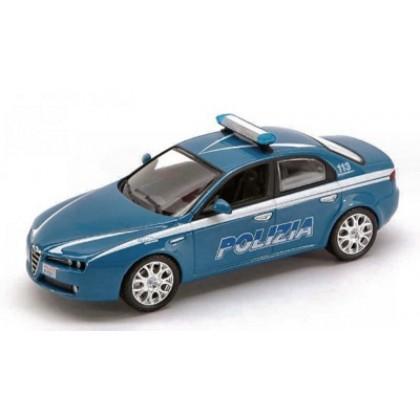 Металлическая модель BBurago 18 24009 Security Team Alfa Romeo 159 Polizia