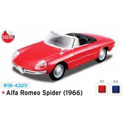 Металлическая модель BBurago 18 43211 Street Classic Alfa Romeo Spider
