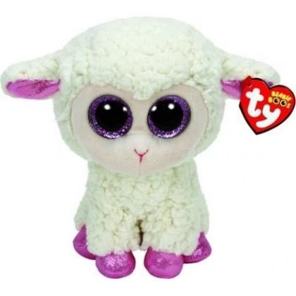 TY 36028 Beanie Boo s Овечка белая с розовыми копытцами