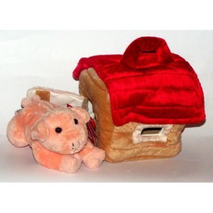 Игрушка мягкая KEEL TOYS 736092  Поросенок в сумке