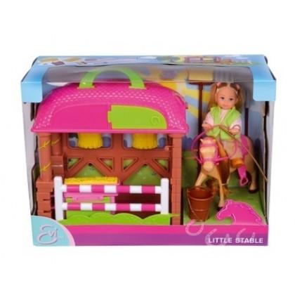 Кукла Simba 5737463 Эви с конюшней
