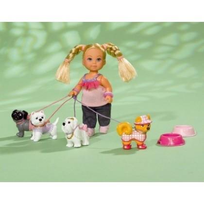 Кукла Simba 5739053 Эви с собачками