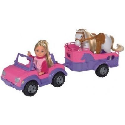Кукла Simba 5737460 Эви на машине с лошадкой