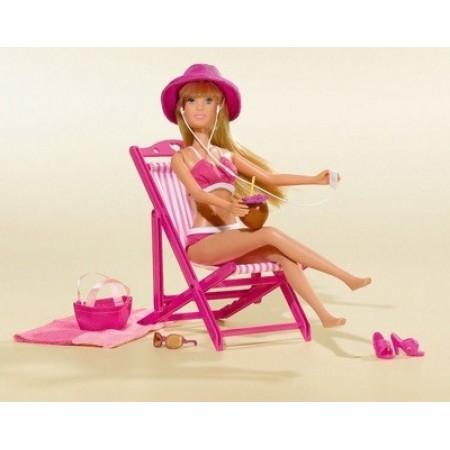 Simba 5730695 Кукла Steffi с шезлонгом