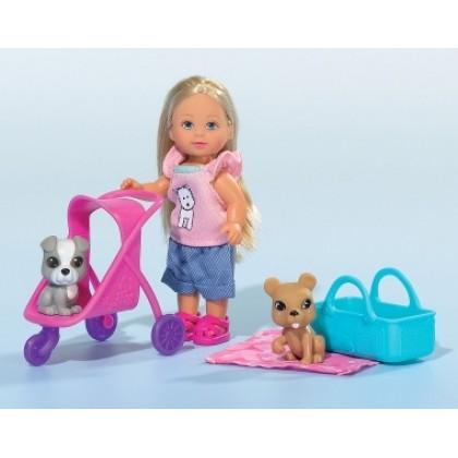 Simba 5733080 Кукла Evi с двумя собачками