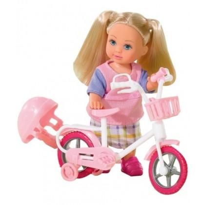 Simba 5731715 Кукла Evi см на велосипеде