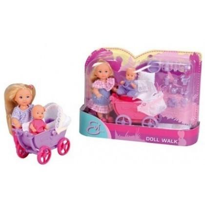 Кукла Simba 5736241 Эви с коляской