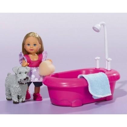 Simba 5733094 Кукла Evi моет собачку