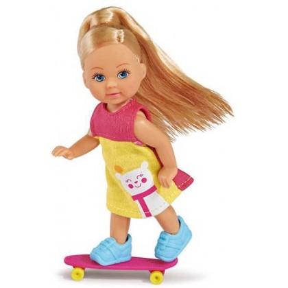 Simba 5732295 Кукла Эви со скутером и скейтом
