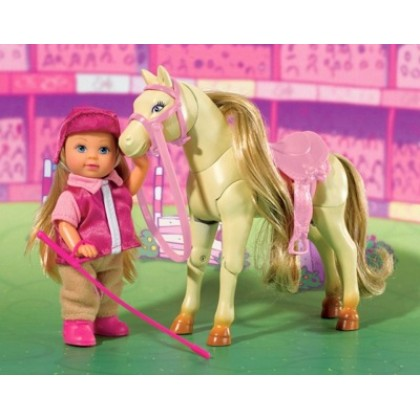 Simba 5730945 Кукла Evi с прыгающей лошадкой