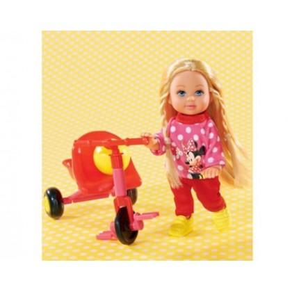 Simba 5746352 Кукла Evi Minnie Mouse на велосипеде