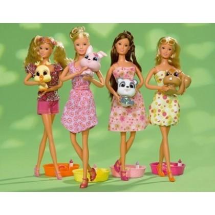 Кукла Simba 5738655 Штеффи со зверятами