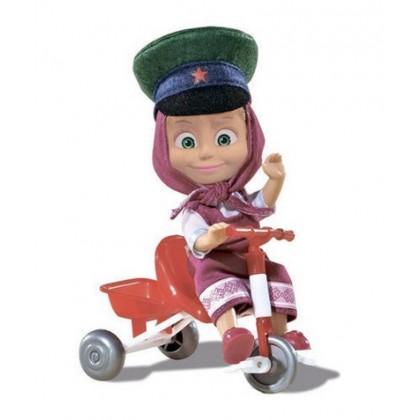 Simba 9301684 Кукла Маша в фуражке с велосипедом