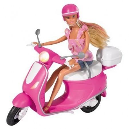 Simba 5730282 Кукла Steffi на мопеде