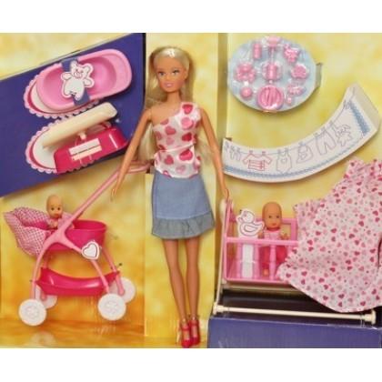 Simba 5730861 Кукла Steffi с младенцем и аксессуарами