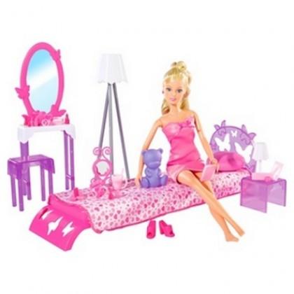 Simba 5730411 Steffi в спальной комнате