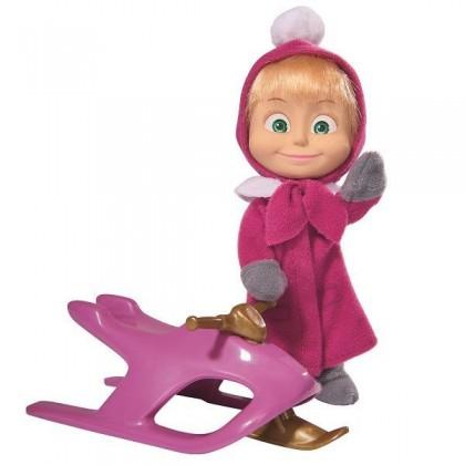 Simba 9301681 Кукла Маша со снегокатом