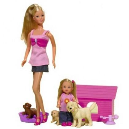 Simba 5732156 Steffi и Evi с домашними животными