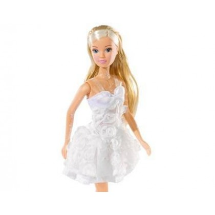 Simba 5730662 Штеффи в белом платье