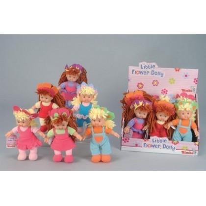 Simba 501-3807 Кукла тряпичная в цветной шапочке 20 см