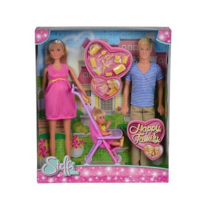 Simba 5733200 Кукла Steffi Счастливая семья