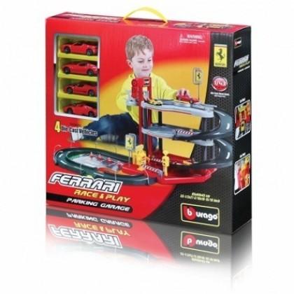 Паркинг Bburago 18 31218 FERRARI с 4 машинками