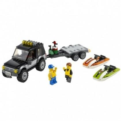 Конструктор LEGO 60058 ГОРОД Внедорожник с катером