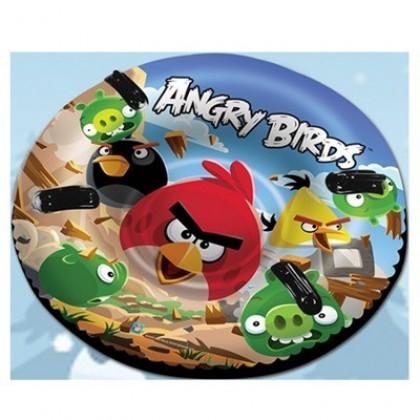 """1Toy Тюбинг - надувные Санки и """"Angry Birds"""" 142см, кругл. с плотн.ручками арт.Т55801"""