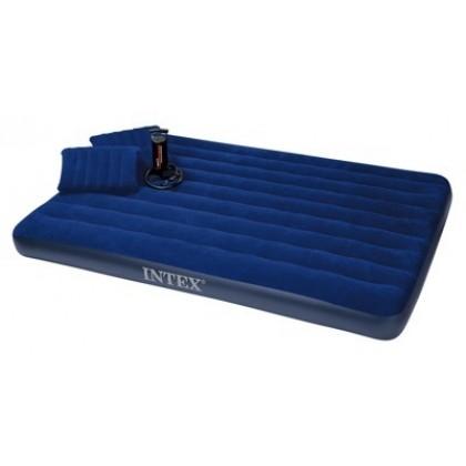 INTEX 68765 Матрас велюр насос подушка