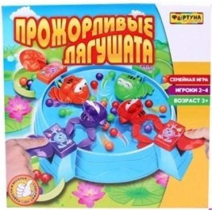Настольная игра ФОРТУНА Ф51237 Прожорливые лягушата