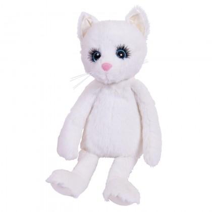 Abtoys M5126 серия Реснички. Кошечка белая 20 см, игрушка мягкая