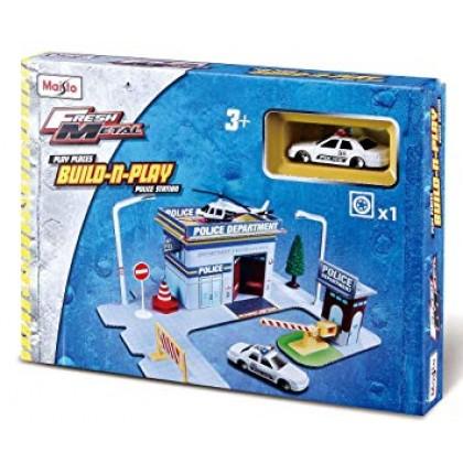 MAISTO 12513 Игровой набор Полиция с 1 машинкой