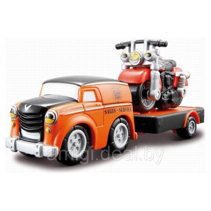 MAISTO 15018 Машина с мотоциклом Харлей Дэвидсон