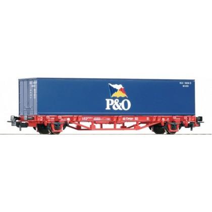 PIKO 57734 Аксессуары.Вагон-платформа с контейнером 1x40' CM